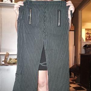 Pinstriped wide legged Daang goodman trip nyc pant